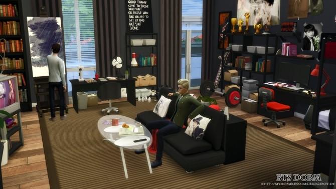 BTS Dorm (Bangtan Boys) at Homeless Sims image 1303 670x377 Sims 4 Updates