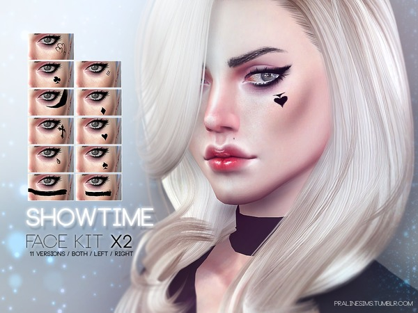 Showtime Face Kit X2 by Pralinesims at TSR image 1325 Sims 4 Updates