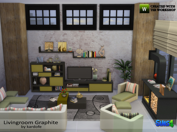 Livingroom Graphite by kardofe at TSR image 1330 Sims 4 Updates