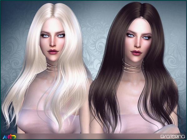 Sims 4 Ekaterina Hair by Anto at TSR