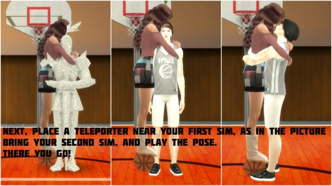 Couple Basketball moment pose at Simsnema image 1353 670x377 Sims 4 Updates