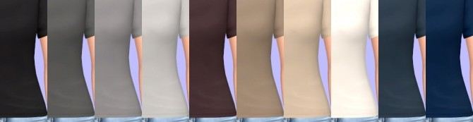 Off Shoulder Top Recolors at Tukete image 1361 670x173 Sims 4 Updates