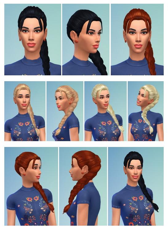 Sims 4 Geraldine Ponytail at Birksches Sims Blog