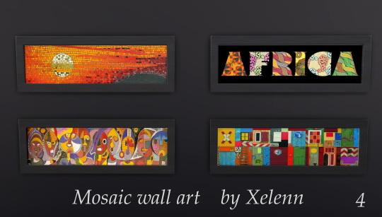 Sims 4 Mosaic wall art at Xelenn