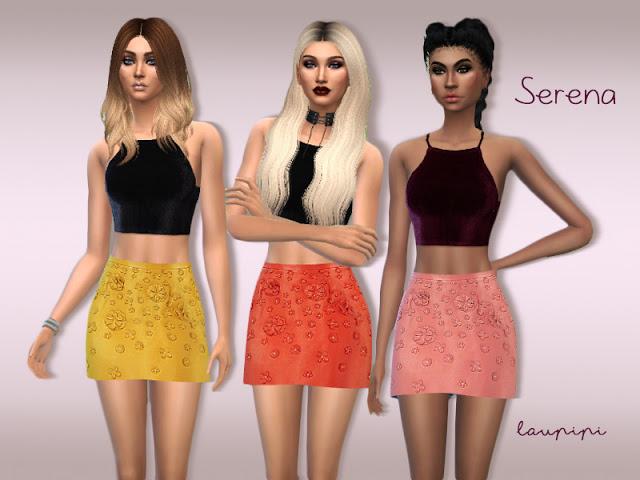 Sims 4 Serena skirt at Laupipi