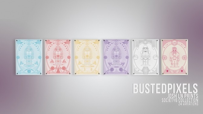 Sims 4 Josh Ln Collection Society6 Prints at Busted Pixels