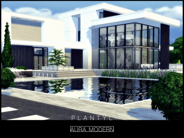 Aura Modern house by Plantyl at TSR » Sims 4 Updates