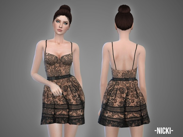 Nicki dress by April at TSR image 1415 Sims 4 Updates