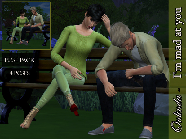 Sims 4 Im mad at you pose pack by StefaniaOnlinda at TSR