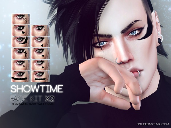 Showtime Face Kit X2 by Pralinesims at TSR image 1424 Sims 4 Updates