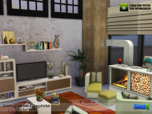 Livingroom Graphite by kardofe at TSR image 1430 Sims 4 Updates