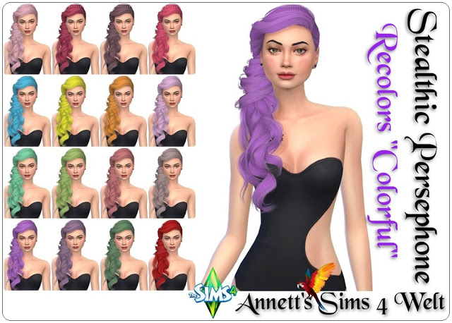 Sims 4 Stealthic Persephone Colorful Recolors at Annett's Sims 4 Welt