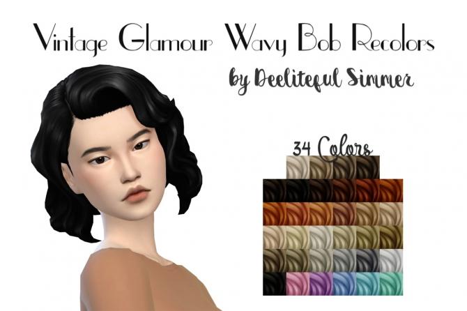 Vintage Glamour Wavy Bob Recolors At Deeliteful Simmer