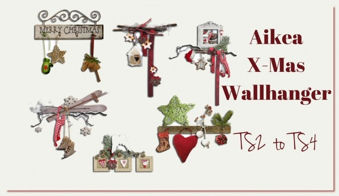 Aikea X Mas wallhanger (TS2 to TS4) at Dinha Gamer image 1503 670x387 Sims 4 Updates