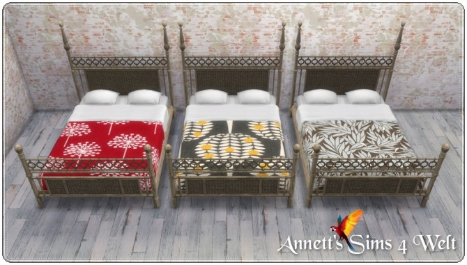 Sims 4 TS3 to TS4 Maritim Bed Recolors by Annett85 at Annett's Sims 4 Welt