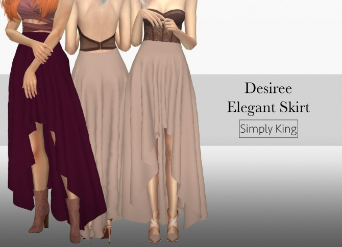 Desiree Elegant Skirt at Simply King image 15112 670x484 Sims 4 Updates