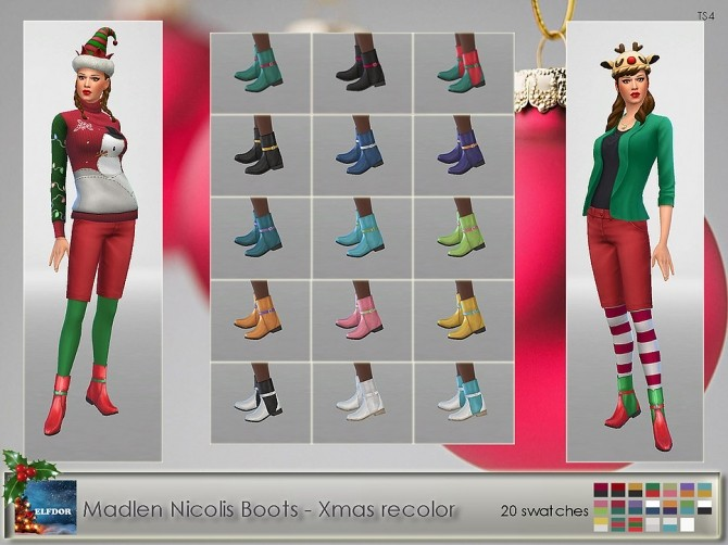 Madlen Nicolis Boots Xmas Recolor at Elfdor Sims image 1517 670x502 Sims 4 Updates
