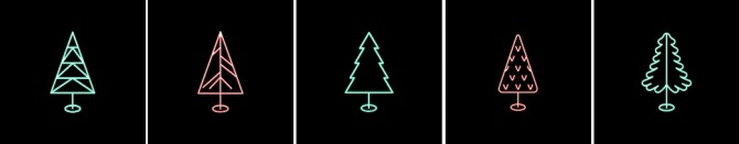 Xmas tree neons at Dominationkid image 15210 670x131 Sims 4 Updates