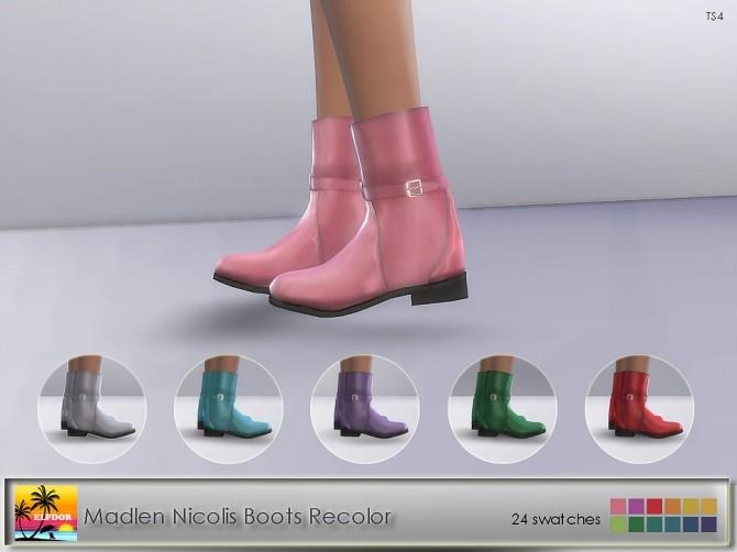 Madlen Nicolis Boots Xmas Recolor at Elfdor Sims image 1522 670x502 Sims 4 Updates