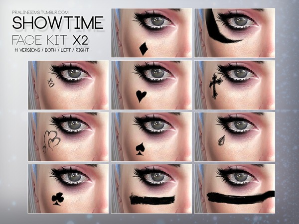 Showtime Face Kit X2 by Pralinesims at TSR image 1524 Sims 4 Updates