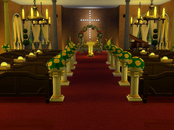 Sims 4 St Marys Church by sharon337 at TSR