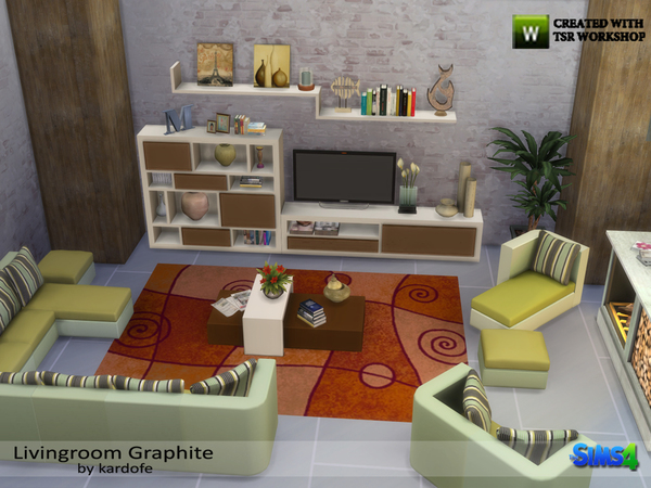 Livingroom Graphite by kardofe at TSR image 1530 Sims 4 Updates