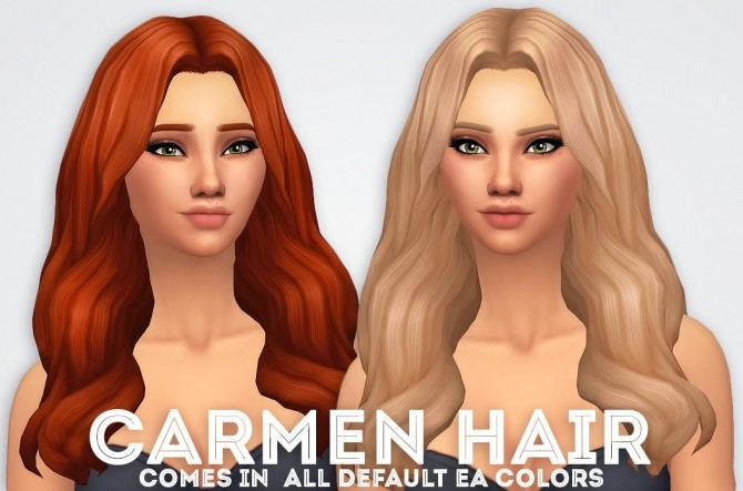 Carmen Hair at Ivo Sims image 1545 670x443 Sims 4 Updates