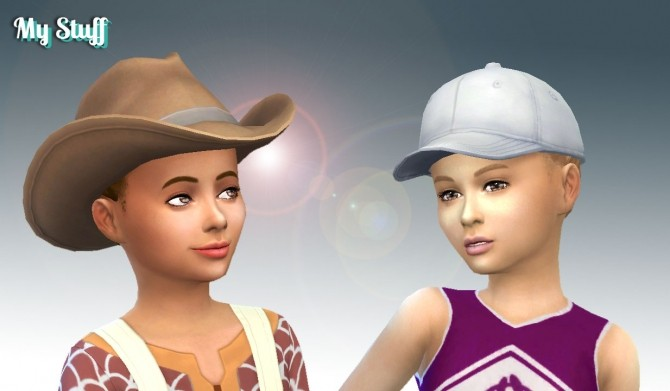Sims 4 Braided Flate Bun for Girls at My Stuff