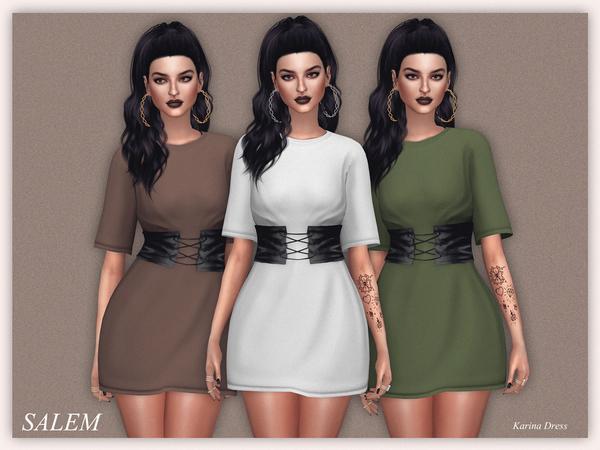 Sims 4 Karina Dress by Salem C. at TSR