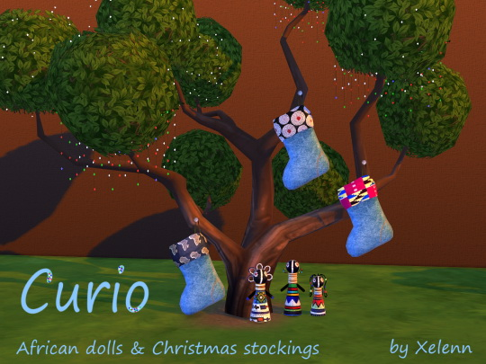 Curio set: African dolls & Christmas stockings at Xelenn image 1592 Sims 4 Updates