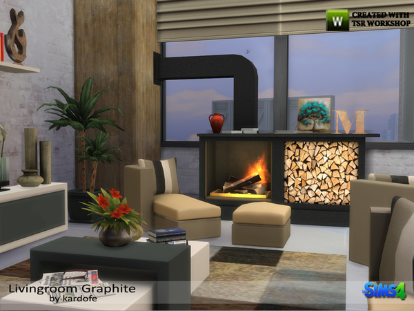 Livingroom Graphite by kardofe at TSR image 1628 Sims 4 Updates
