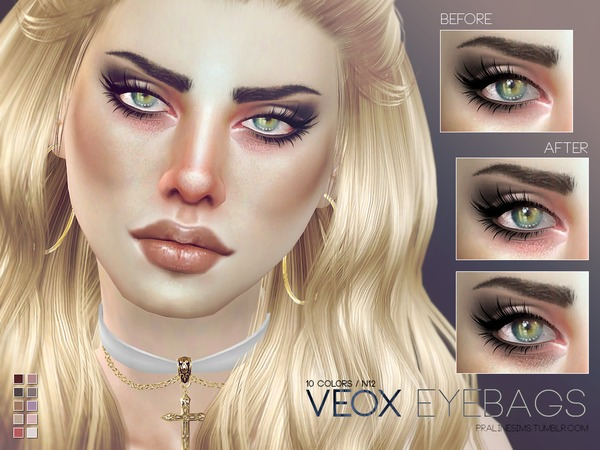 Veox Eyebags N12 by Pralinesims at TSR image 17 Sims 4 Updates