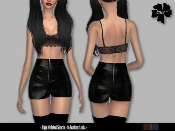 IMF High Waisted Shorts by IzzieMcFire at TSR image 1710 Sims 4 Updates