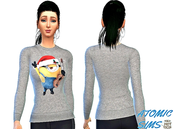 Sims 4 Minions Christmas party by Daweesims at TSR