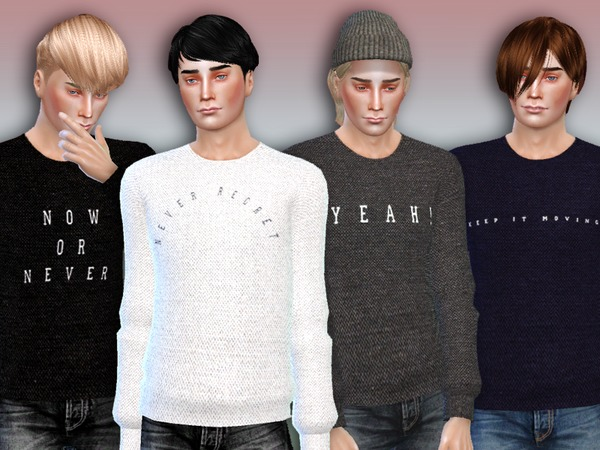 Sims 4 Now or Never Sweaters For Men by Simlark at TSR