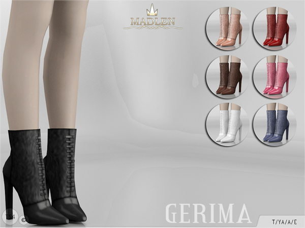 Sims 4 Madlen Gerima Boots by MJ95 at TSR