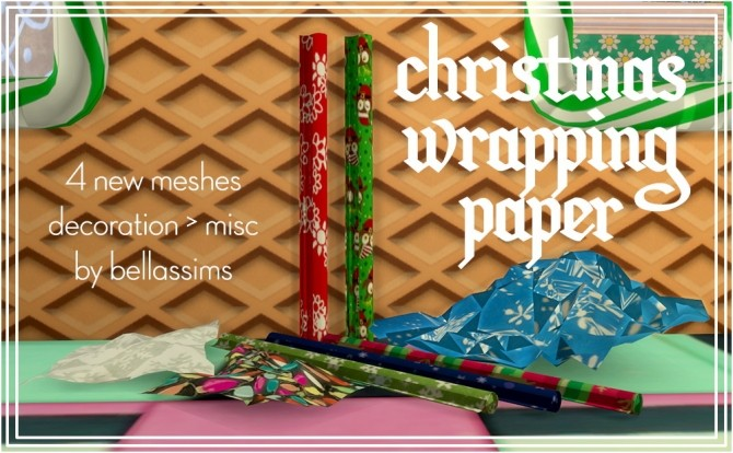 Sims 4 Christmas wrapping paper at Bellassims