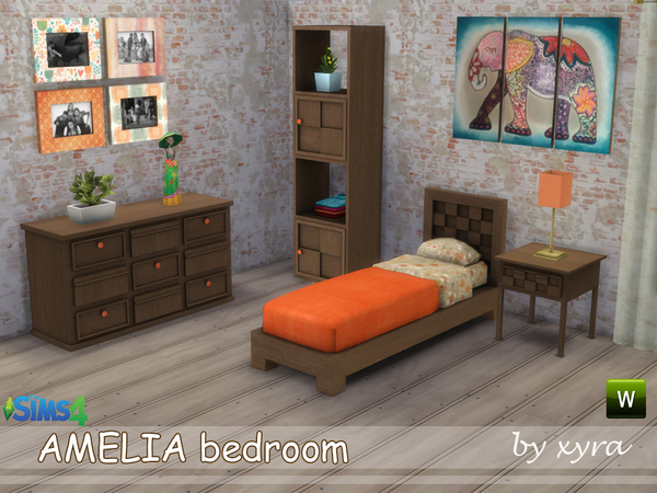 Amelia bedroom set by xyra33 at TSR image 1812 Sims 4 Updates