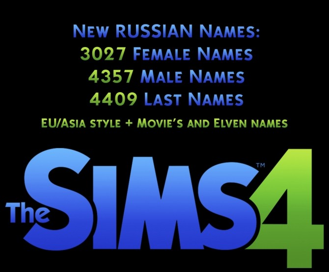 More Russian Names EU Asia Style And By Maracelume At Mod The Sims