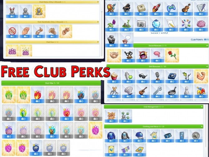 Free Club Perks mod by Simstopics at SimsWorkshop image 183 670x503 Sims 4 Updates