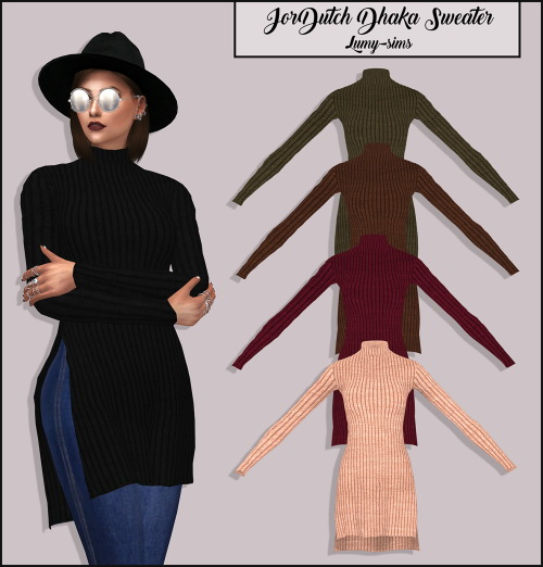 Jordutch's Dhaka Sweater at Lumy Sims image 1872 Sims 4 Updates