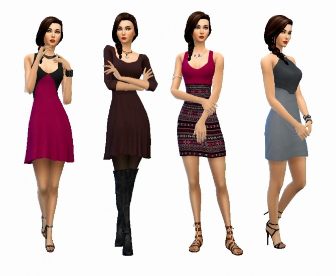 Lovely Dresses Maxis Match Lookbook At Simelicious Sims