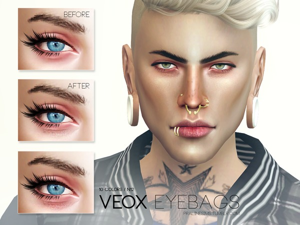 Veox Eyebags N12 by Pralinesims at TSR image 19 Sims 4 Updates