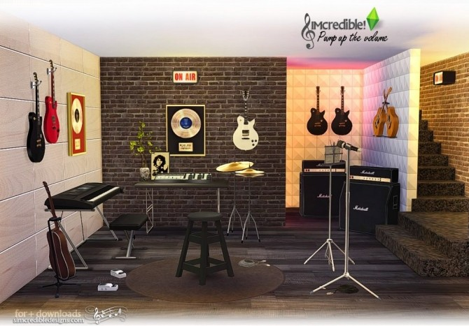 Pump up the Volume music goodies at SIMcredible! Designs 4 image 191 670x467 Sims 4 Updates