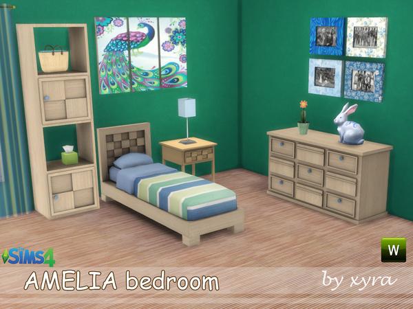 Sims 4 Amelia bedroom set by xyra33 at TSR