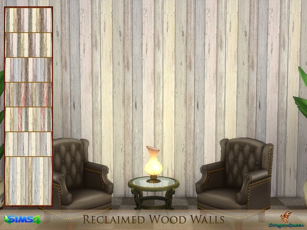 Reclaimed Wood Walls by DragonQueen at TSR image 1913 Sims 4 Updates