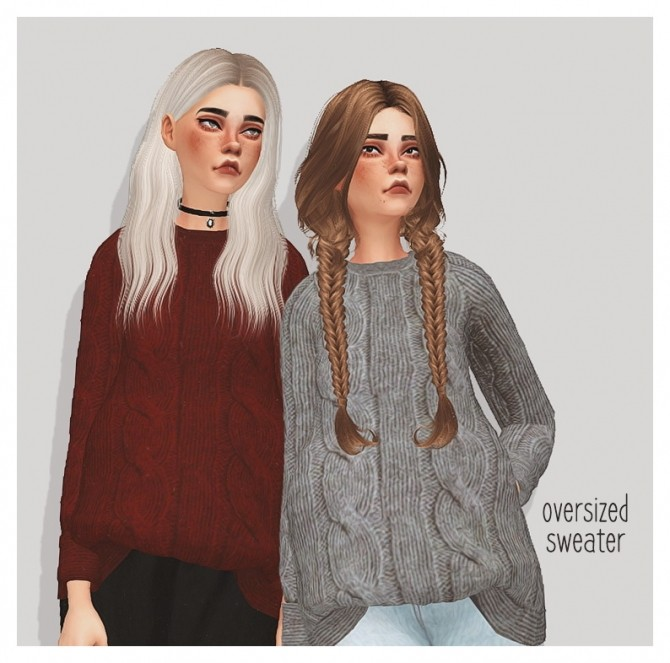 Sims 4 Oversized sweater at Puresims