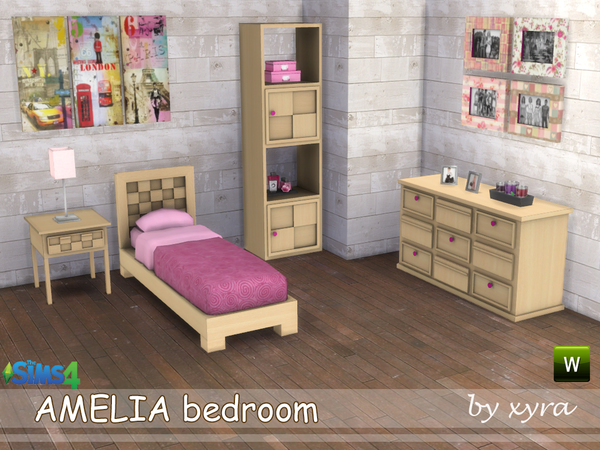 Amelia bedroom set by xyra33 at TSR image 2013 Sims 4 Updates