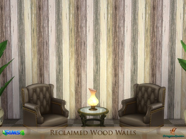 Reclaimed Wood Walls by DragonQueen at TSR image 2015 Sims 4 Updates