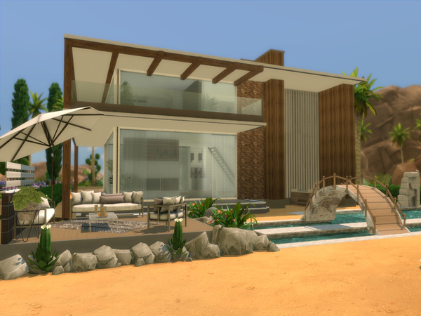 Sims 4 Modern Desert Home by Suzz86 at TSR